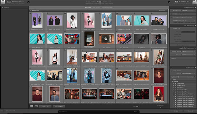 Here is the old Lightroom Screen appearence